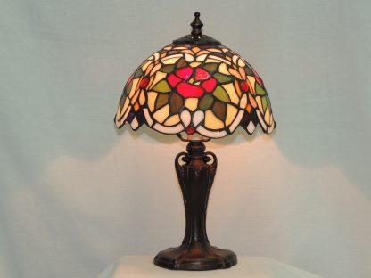 cabernet rose tiffany style lamp