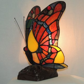 butterfly tiffany style memory lamp r