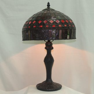 cathedral stained glass single bulb memory table lamp
