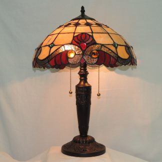 vivaldi amber tiffany style table memory lamp
