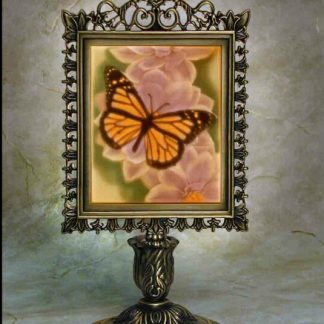 porcelain garden colored butterfly lithophane lamp