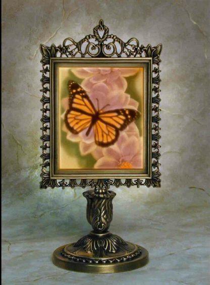 porcelain garden colored butterfly lithophane lamp