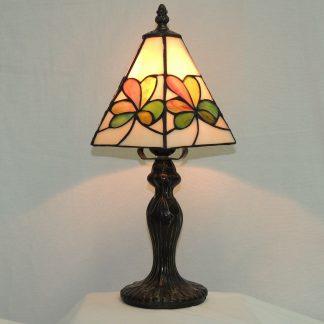 tiffany style shamrock remembrance lamp.