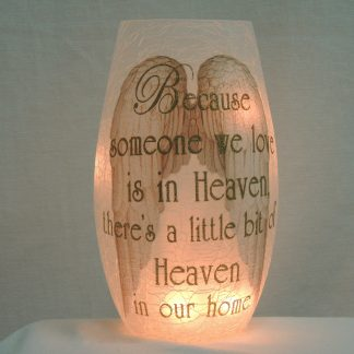 heaven angel wings gold vase memory lamp