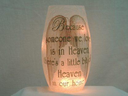 heaven angel wings gold vase memory lamp