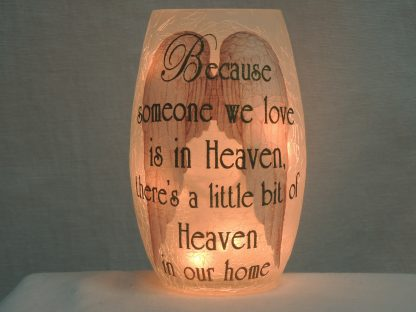heaven angel wings gold vase accent lamp