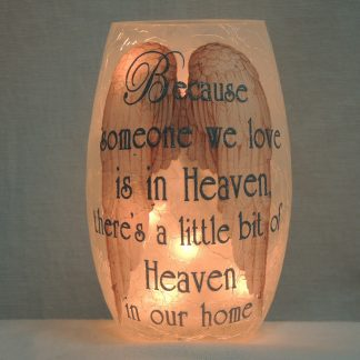 heaven angel wings silver vase accent lamp