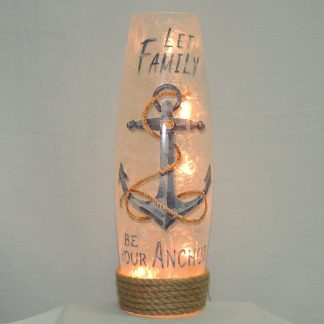 anchor family hand painted accent lamp vase