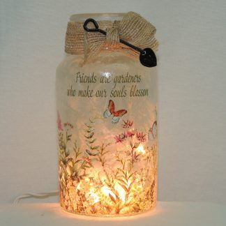 butterfly garden friends hand painted vase lamp