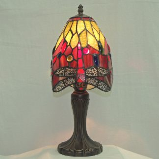 dragonfly tiffany style accent lamp with filigree style wings