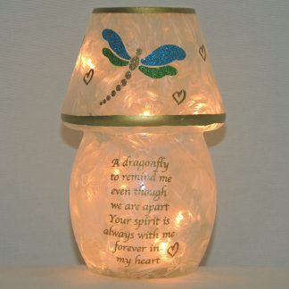 dragonfly votive style accent lamp 6 inches high