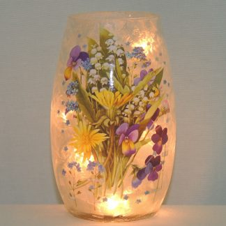 flower garden hand painted night lamp vase lamp